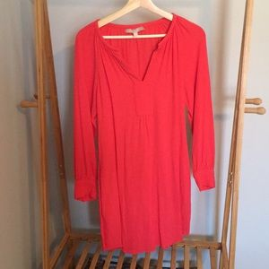 EUC BR Coral dress with pockets and waist tie